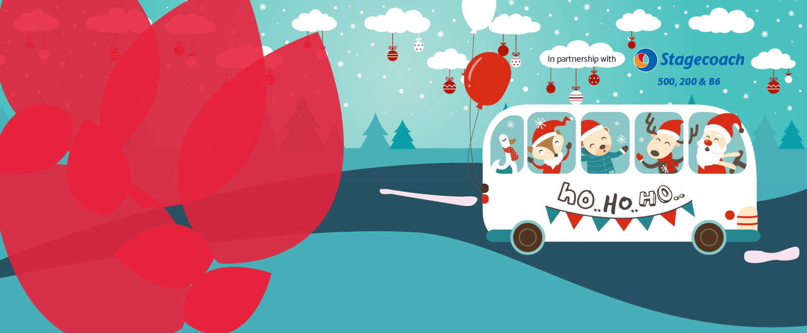 Santa's Christmas Bus – Sunday 16th December 11am – 4pm Event Image